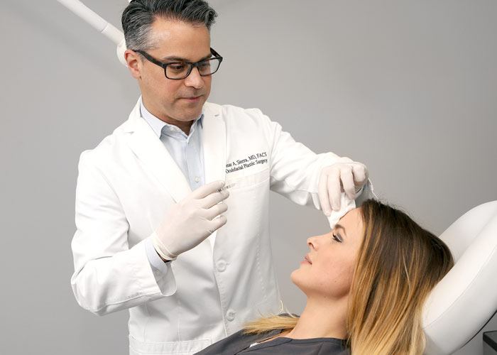 Dr. Sierra providing Botox injection for patient